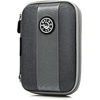 Hard Drive Disk Protective Zipper Carrying Shell Case Cover Bag For 2.5 Inch Portable External Hard Drive Grey...