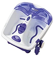HOT SPA 61355 Foot Bath Plus with Acupressure Massage Center, White/Purple