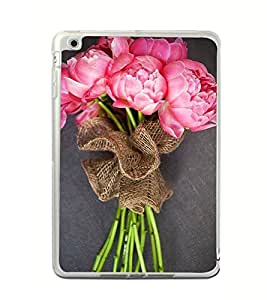 Bouquet of Pink Flowers 2D Hard Polycarbonate Designer Back Case Cover for Apple iPad Mini 4 :: Apple iPad Mini 2 :: Apple iPad Mini 2 Wi-Fi + Cellular :: Apple iPad Mini 3 :: Apple iPad Mini 3 Wi-Fi + Cellular
