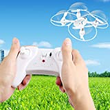 iRola Mini Nano Drone RC Remote Controlled Quadcopter UFO 4.5Ch, 6 Axis Gyro, 2.4GHz, Two LED Lights, 360° Flip Feature (White)