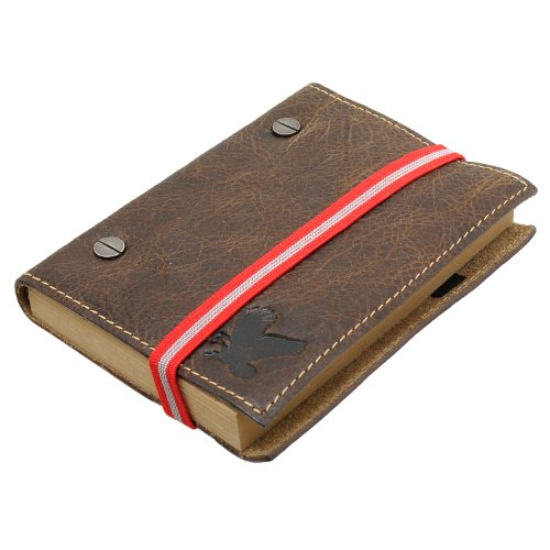 Men's Leather Travel Note Book with Elastic by Detour