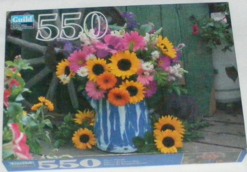 Guild Puzzle: Wagon Wheel Garden: 550 piece - 1