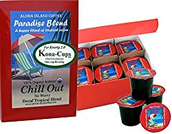 Aloha Island Coffee Water Process Decaf, Non-Chemical Decaf Coffee Single Serve Cups for Use with Keurig K-cup Brewing Systems, 12 Cups