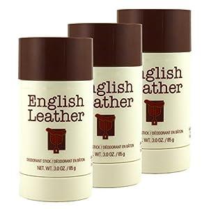 English Leather Deodorant Stick - 3 oz (85g) (3 Pack)