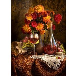 Poster / Tela  NATURA MORTA CON FIORI AUTUNNALI  Flowers Paint  Natura  30x40cm  Carta Fotografica   recensioni dei clienti