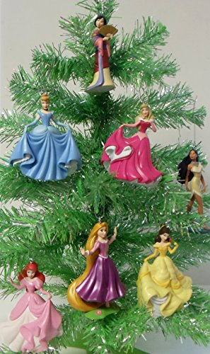Disney magical princess 7 piece holiday christmas tree for Ariel christmas decoration