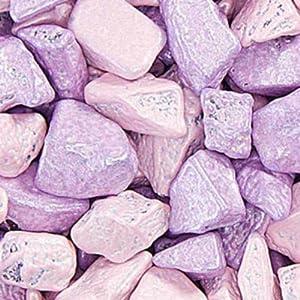 Light Pink and Light Purple Princess Chocolate Rocks Candy Nuggets 1lb Bag