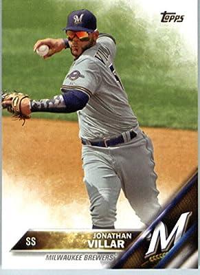 2016 Topps Series 2 #533 Jonathan Villar Milwaukee Brewers Baseball Card-MINT
