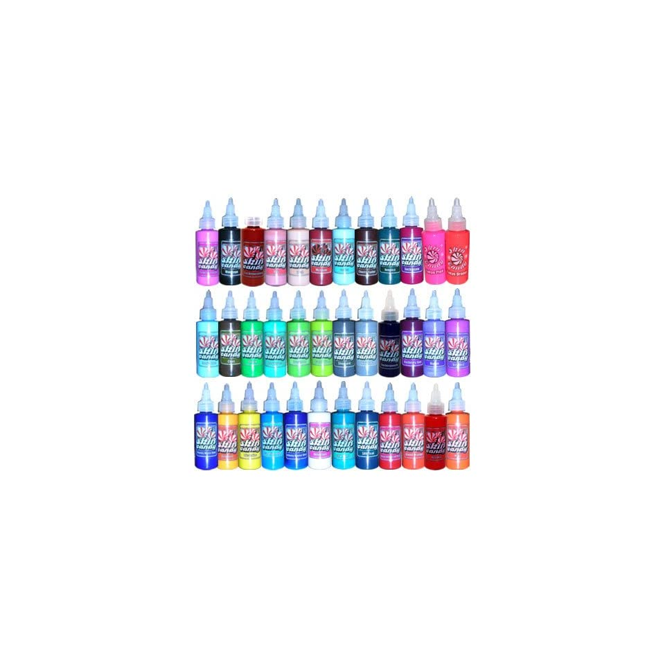 Tattoo Supplies Skin Candy 36 Tattoo Ink Colors in 1oz on PopScreen
