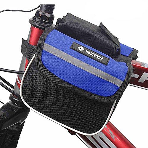 Fahrradsatteltasche Fahrrad Tasche Pfeifenbeutel vor der Tasche mit Handy-Tasche