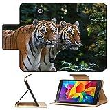 Luxlady Premium Samsung Galaxy Tab 4 7.0 Inch Flip Pu Leather Wallet Case IMAGE ID 30938102 Endangered Bengal tiger is captivity