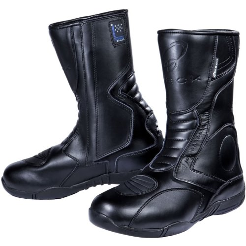 Black Stealth Evo Motorcycle Boots 43 Black (UK9)