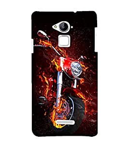 printtech Flaming Biking Back Case Cover for Coolpad Note 3