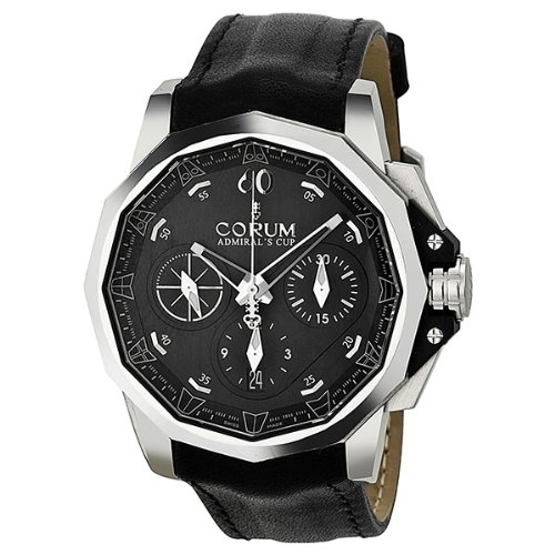 Corum Admiral's Cup Challenger Automatic Chronograph Black Dial Mens Watch 753771200F61AN15