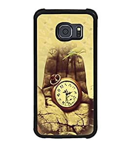 Fuson Premium 2D Back Case Cover Its my Time With Red Background Degined For Samsung Galaxy S6::Samsung Galaxy S6 G920