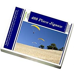 Photo Jigsaw Puzzle of Hang gliders over Dune du Pyla, Bay of Arcachon, Cote d Argent, Gironde