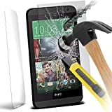 HTC Desire 820 Premium Tempered Glass Screen Protector Skin Cover - Explosion & Shatter Proof - Microfibre Cloth & Dust Collection by Gadget Giant