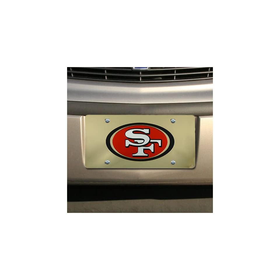 NFL San Francisco 49ers Gold Mirror License Plate