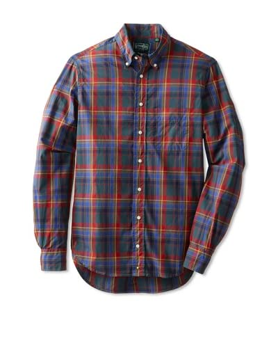 Gitman Vintage Men's Plaid Long Sleeve Shirt