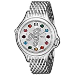 Fendi Women's F105036000D1T02 Crazy Carats Analog Display Swiss Quartz Silver Watch