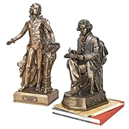 Design Toscano The Great Composers Mozart and Beethoven Statue (Set of 2)