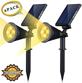 Amazon.com : (2 Pack) Solar Rock Outdoor Garden Accent Pathway ...