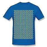 猫Maru 色の雨が 空の涙 メンズ Tシャツ RoyalBlue XX-Large