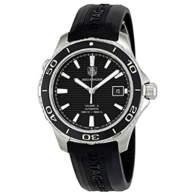 TAG Heuer Men's WAK2110.FT6027 Aquaracer Analog Display Swiss Automatic Black Watch