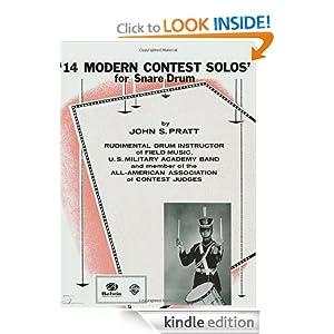 14 modern contest solos for snare drum ebook john s pratt mp3. Black Bedroom Furniture Sets. Home Design Ideas