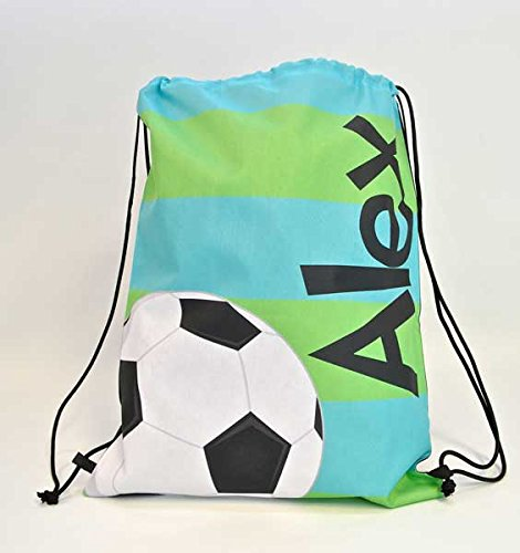 Tin Tree Gifts Customized Drawstring Backpack Soccer Personalized Backpack (Ball Customized compare prices)