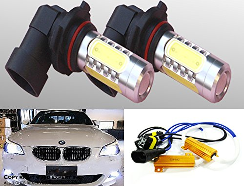 Cree Led H10 9140 9145 Fog Light Plasma Projector Bulbs W/No Error Decoder Cable