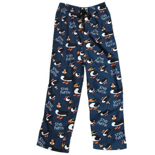 Stud Puffin Loungewear Pajama Pants (Blue, Medium)