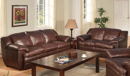 Brown Leather Sofa And Loveseat