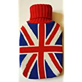 Warm Tradition British Flag Knit Hot Water Bottle Cover- COVER ONLY