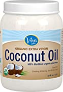 Viva Labs Organic Extra Virgin Coconut Oil, 54 Ounce