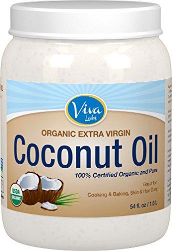 Viva Labs Organic Extra Virgin Coconut Oil, 54 Ounce