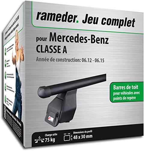 kit complet rameder barres de toit tema pour mercedes benz classe a 118876 10342 2 fr. Black Bedroom Furniture Sets. Home Design Ideas