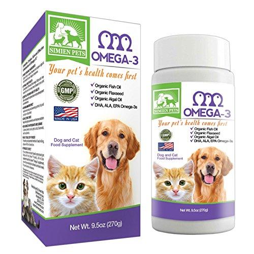 organic-omega-3-dogs-cats-fish-algal-flaxseed-oils-shinier-coat-skin-optimal-heart-brain-eye-health-