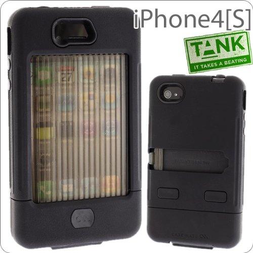 Case-mate CM016801 iPhone 4/4S用 ミリタリーグレードケース タンク ブラック/ブラック CM016801