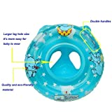 Blue Inflatable Baby Child Handle Safety Swimming Seat Float Ring Raft Chair Pool Toy
