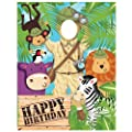 Safari Adventure Photo Op Banner Happy Birthday Jungle Party Supplies