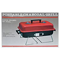 St. Millers Portable Dual Tone Barbecue Grill, 1Pc,Red&Black