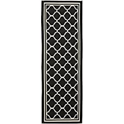 Safavieh Courtyard Collection CY6918-226 Black and Beige Indoor/ Outdoor Runner, 2 feet 3 inches by 8 feet (2\'3\