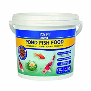 Api pond fish food 4mm pellet 25oz pet supplies for Amazon fish ponds