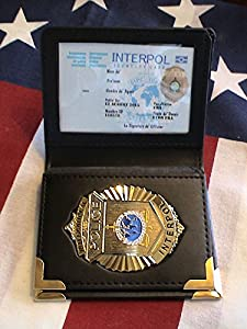 "Amazon.com : INTERPOL Embossed ID Case with 3"" 3D CoinBadge w/ ID Card"