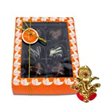 Chocholik Belgium Chocolate Gifts - Attractive Treat Of Chocolate Hearts With Ganesha Idol - Diwali Gifts