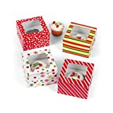 Bright Christmas Cupcake Boxes (1 dz)
