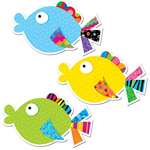 Creative Teaching Press 6-Inch Designer Cut-Outs, Fancy Fish (6439)