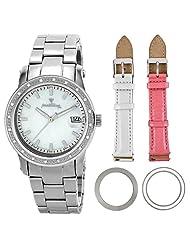 "JBW-Just Bling Women's JB-6224-I_BB ""Starlight"" Steel Diamond Mother-Of-Pearl Stainless Steel Gift Set Watch"