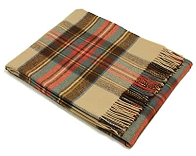 Bronte Throw Blanket - Tartan Throw - Merino Lambswool